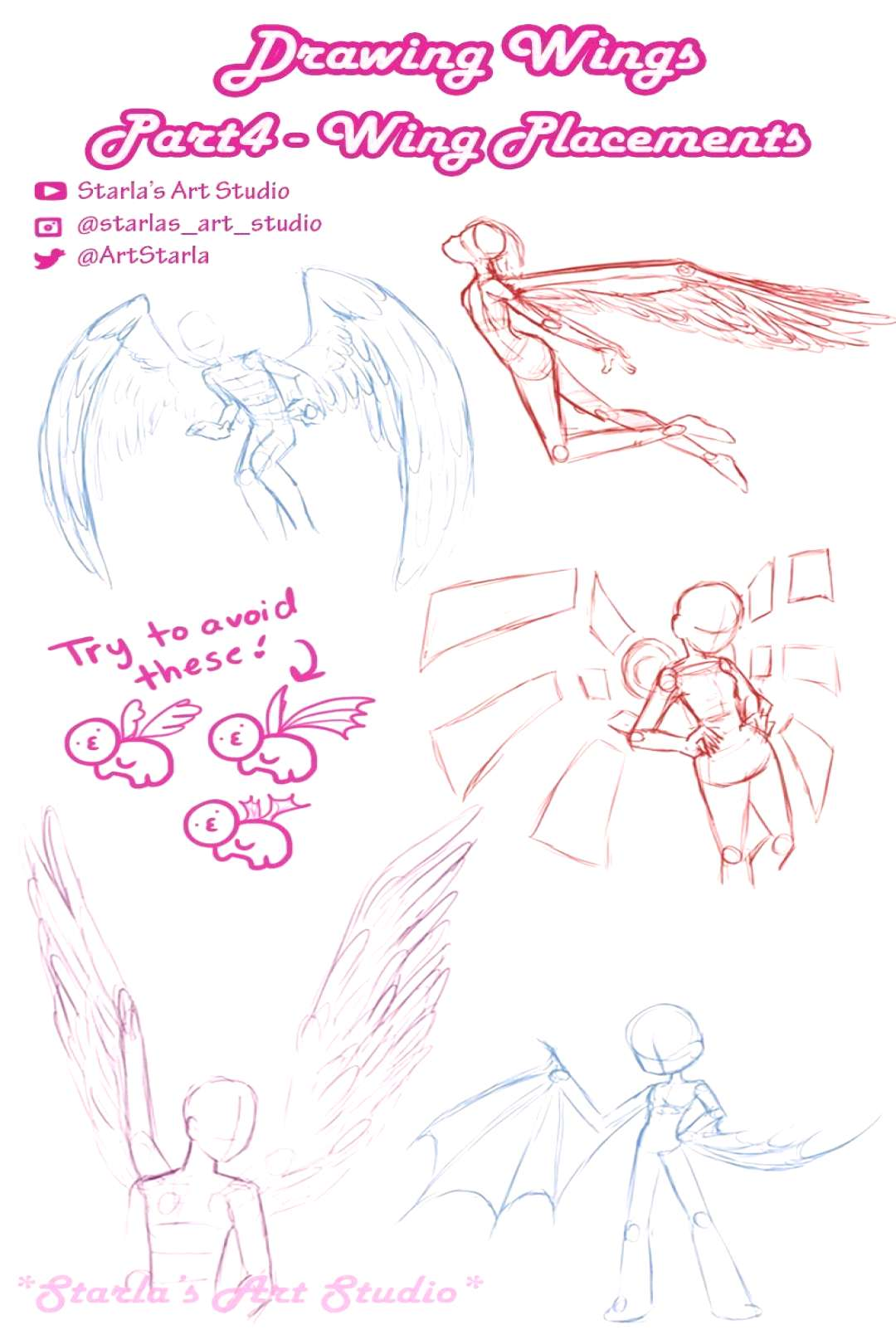 ✔ Anime Poses Reference Wings