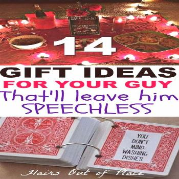14 awesome DIY gifts for him that make the best gifts for boyfriend, as homecoming proposals, and a