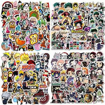 200PCS Anime Mixed Stickers,Popular Classic Anime Stickers
