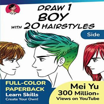Draw 1 Boy with 20 Hairstyles - Side View: Learn how to draw