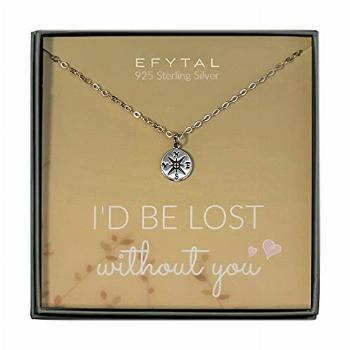 EFYTAL Necklace Gift for Girlfriend / Wife, Sterling Silver