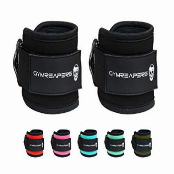 Gymreapers Ankle Straps (Pair) for Cable Machine Kickbacks,