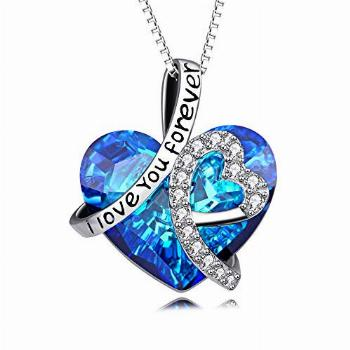 Heart Necklace 925 Sterling Silver I Love You Forever