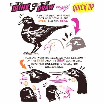 How to THINK when you draw BIRD CHARACTERS QUICK TIP! Want 1,000s of TUTORIALS f... How to THINK wh