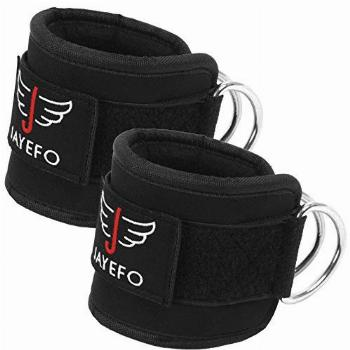 Jayefo Ankle Straps Padded for Cable Machine Attachment Leg