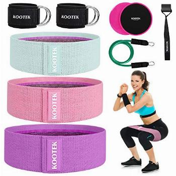 Kootek 11 Pcs Booty Bands Resistance Bands for Butt and Legs