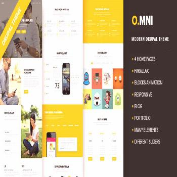 Omni - Modern App Drupal 7.6 Theme  ⠀  Omni is a one page creative, clean and moder Drupal Theme.