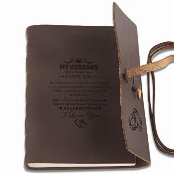 Personalized Leather Journals to Husband Engraved Antique