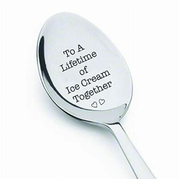 To A Lifetime Of Ice Cream Together Spoon - Anniversary Gift