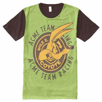 Wile E. Coyote Acme Team Racing All-Over-Print T-Shirt