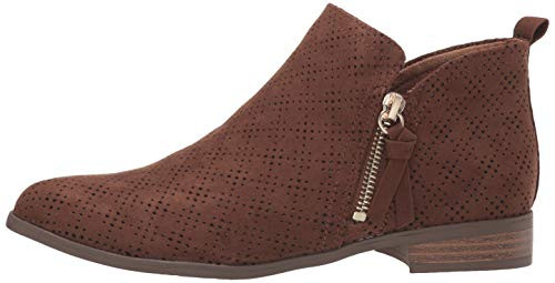 Dr. Scholls Shoes Womens Rate Zip Ankle Boot, Chocolate