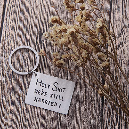 Funny Anniversary Keychain Gifts For Men Him Her Husband