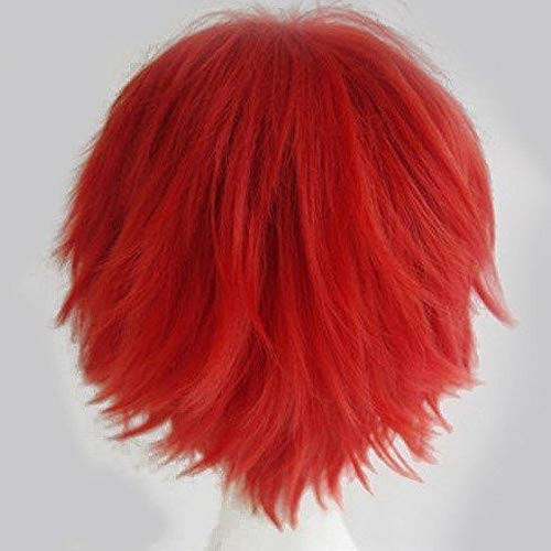 S-noilite Cosplay Wig Short Unisex Anime Wig Fluffy Hair Wig